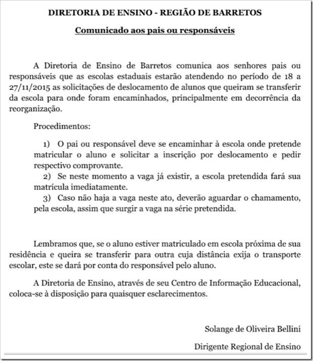 comunicado-DRE