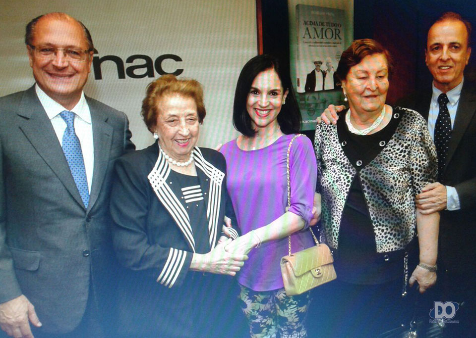 Governador Alckmin com dona Eunice, Lu Alckmin e Henrique Prata