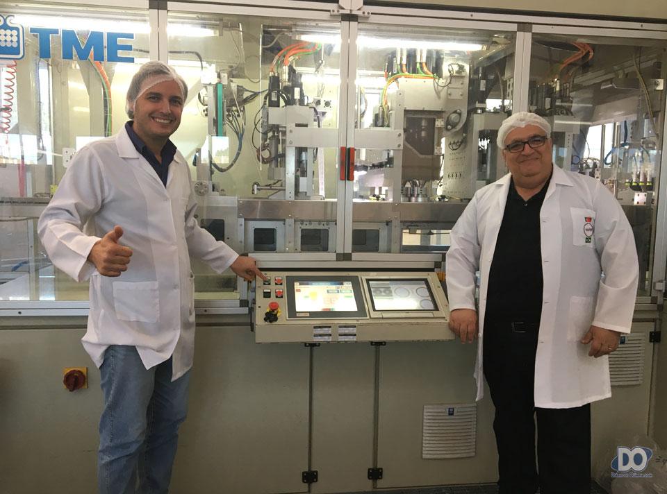Gledson Reis e Leonardo Concon, no 'start' do encapsulamento