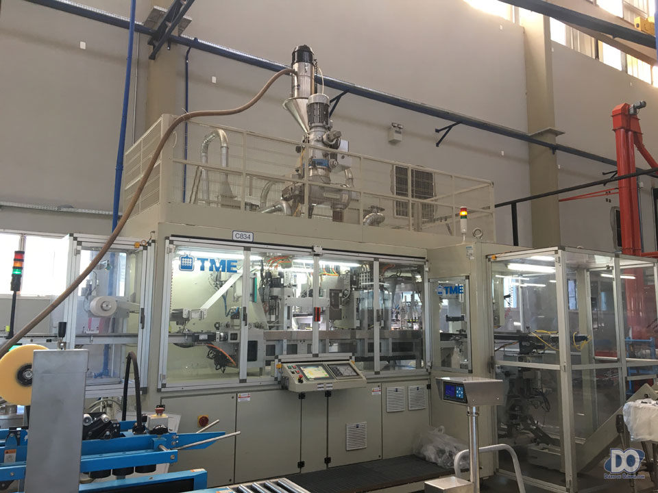 A máquina italiana de encapsulamento, totalmente automatizada e 'inteligente'