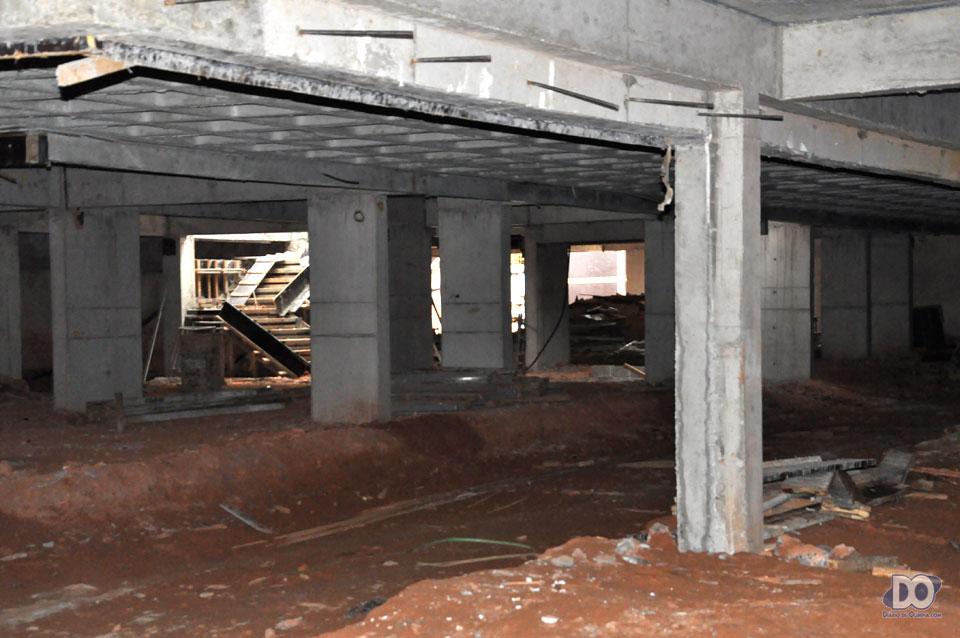 Garagem ampla para os futuros moradores do Atlant