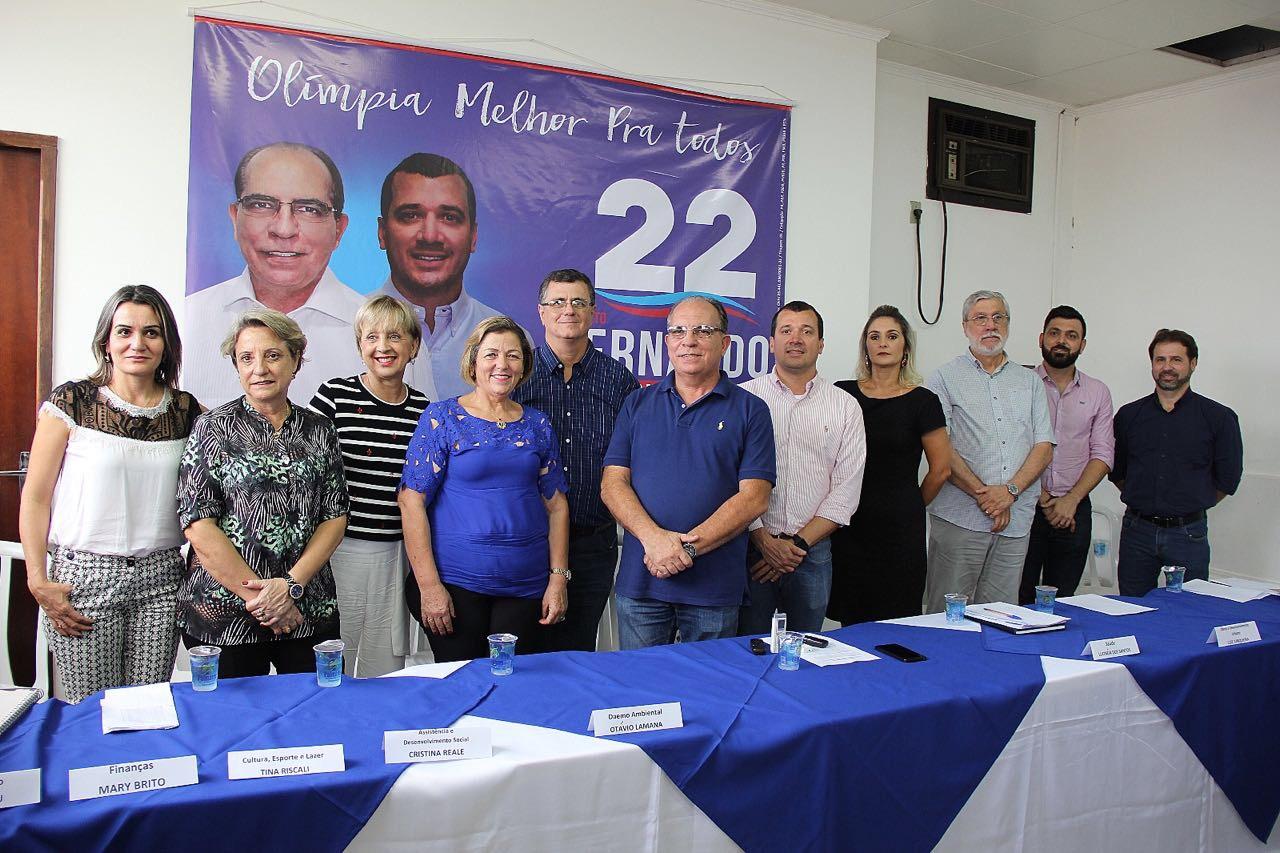 Fernando Cunha com os primeiros secretários anunciados hoje
